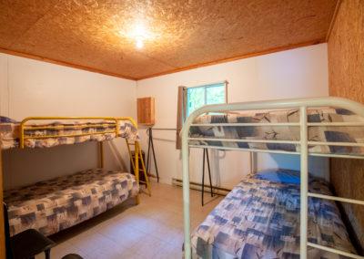 Chambre avec lits superposées du Chalet Le Paolo